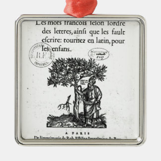 Titlepage of the first French-Latin dictionary Metal Ornament