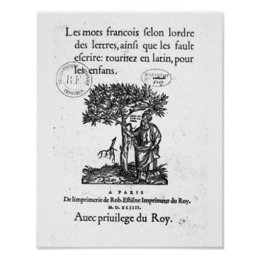 bridgemanimages Titlepage of the first French-Latin dictionary Poster