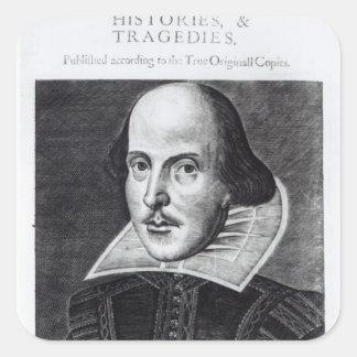 Titlepage, 'Sr. Guillermo Shakespeares Pegatina Cuadradas