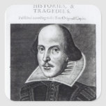 Titlepage, 'Sr. Guillermo Shakespeares Pegatina Cuadrada
