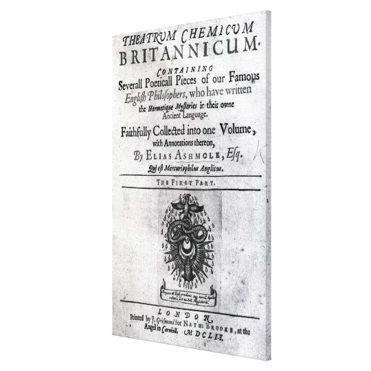 Titlepage 'Theatrum Chemicum Britannicum' Canvas Print