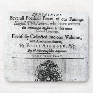 Titlepage 'Theatrum Chemicum Britannicum' Mouse Pad