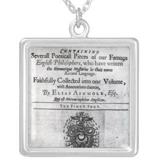 Titlepage 'Theatrum Chemicum Britannicum' Jewelry