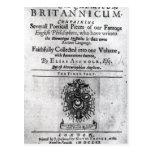 Titlepage 'Theatrum Chemicum Britannicum' Post Cards
