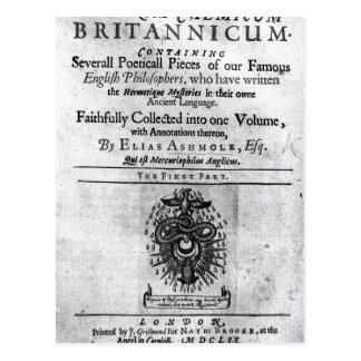 Titlepage 'Theatrum Chemicum Britannicum' Postcard