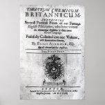 Titlepage 'Theatrum Chemicum Britannicum' Print