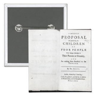 Titlepage to 'A Modest Proposal' Button