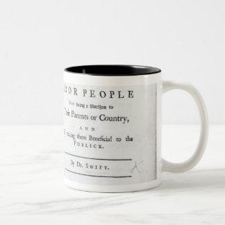 Titlepage to 'A Modest Proposal' Mug