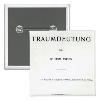 Titlepage to Die Traumdeutung by Sigmund Freud Pinback Button