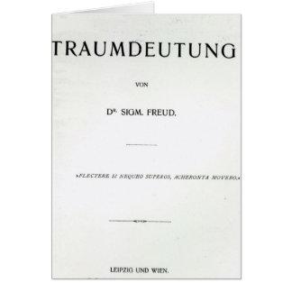 Titlepage to Die Traumdeutung by Sigmund Freud Card