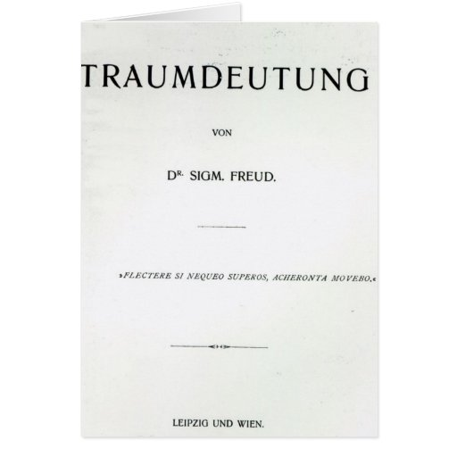 Titlepage to Die Traumdeutung by Sigmund Freud Cards