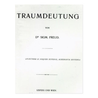 Titlepage to Die Traumdeutung by Sigmund Freud Postcard