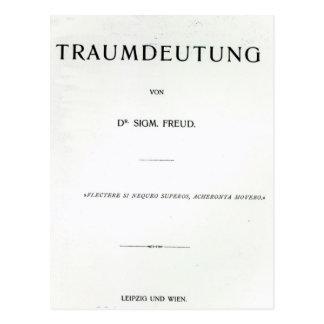 Titlepage to Die Traumdeutung by Sigmund Freud Postcard