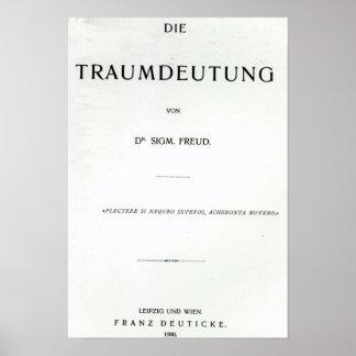 Titlepage to Die Traumdeutung by Sigmund Freud Poster