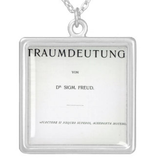 Titlepage to Die Traumdeutung by Sigmund Freud Square Pendant Necklace