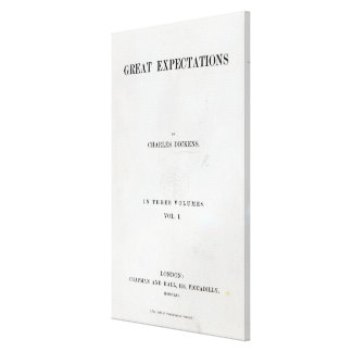 Titlepage to Great Expectations by Charles Stretched Canvas Prints