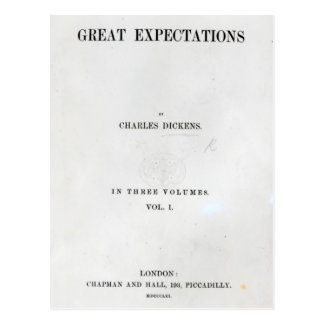 Titlepage to Great Expectations by Charles Postcard