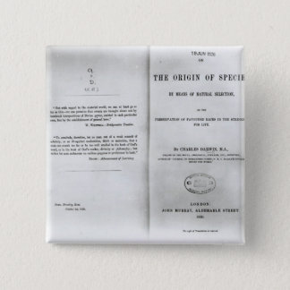 Titlepage to 'On the Origin of Species' Button