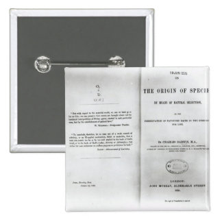 Titlepage to 'On the Origin of Species' Pins