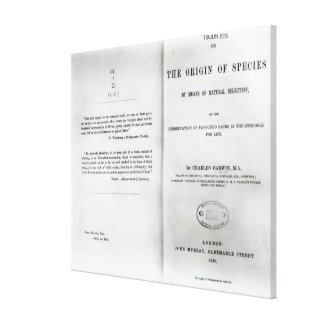 Titlepage to 'On the Origin of Species' Canvas Prints