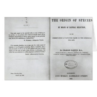 Titlepage to 'On the Origin of Species' Card