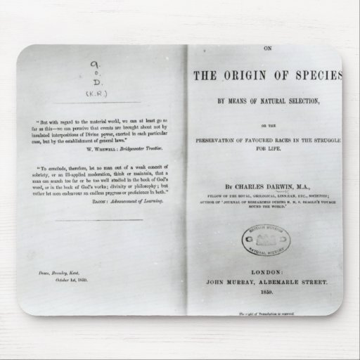 Titlepage to 'On the Origin of Species' Mouse Pad