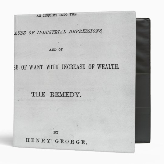 Titlepage to 'Progress and Poverty' Binder