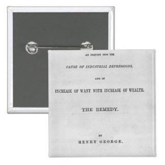 Titlepage to 'Progress and Poverty' Pins