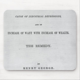 Titlepage to 'Progress and Poverty' Mouse Pad
