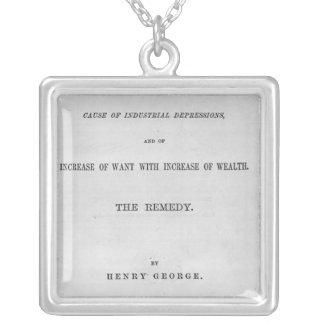 Titlepage to 'Progress and Poverty' Custom Jewelry