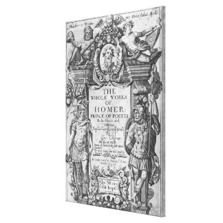 Titlepage to 'The Whole Works of Homer' Stretched Canvas Print