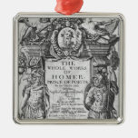 Titlepage to 'The Whole Works of Homer' Metal Ornament