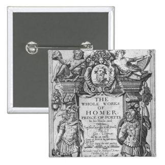 Titlepage to 'The Whole Works of Homer' Pinback Button