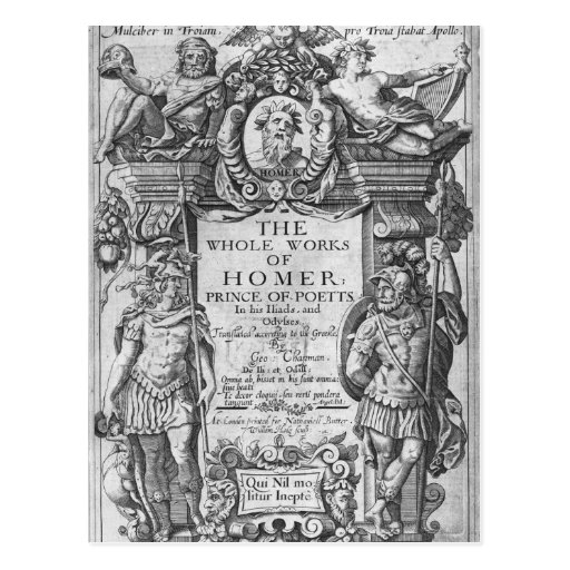 Titlepage to 'The Whole Works of Homer' Post Cards