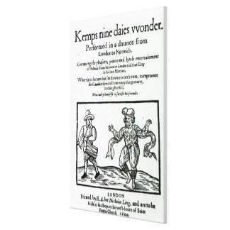 Titlepage to William Kemp's Gallery Wrapped Canvas