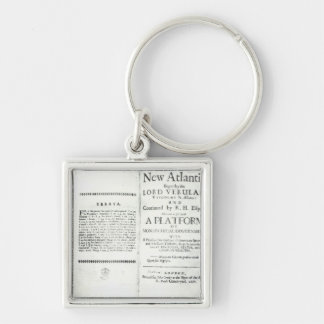 Titlepages to Francis Bacon's Silver-Colored Square Keychain