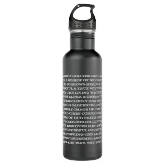 Titles of Jesus 24oz Water Bottle