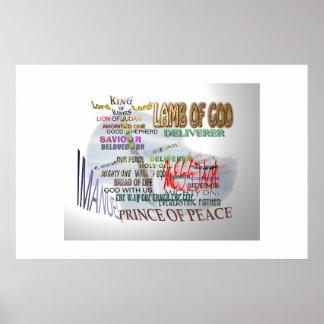 Titles of Jesus Christ Print