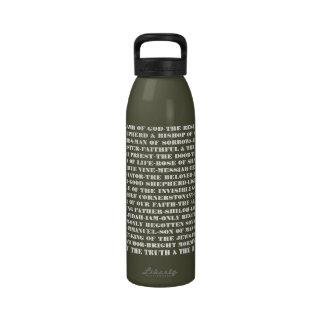 Titles of Jesus Drinking Bottle