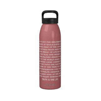 Titles of Jesus Water Bottles