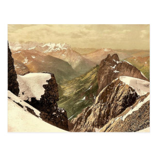 Titlis, view of the Alps, Bernese Oberland, Switze Postcard