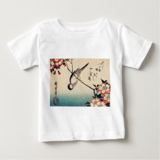 Titmice on a Cherry Branch, Hiroshige Baby T-Shirt