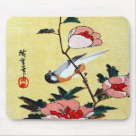 Titmouse and Peonies, Hiroshige Mouse Pads