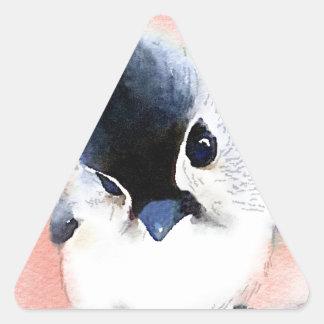 Titmouse copetudo calcomanías trianguloes personalizadas