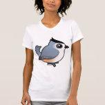 Titmouse Negro-con cresta Camisetas