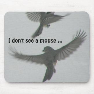 Titmouse que busca un ratón alfombrilla de raton