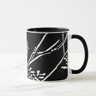 Titmouse woodcut mug