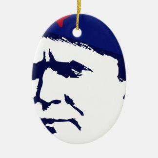 Tito josip Broz Portrait illustration Ceramic Ornament