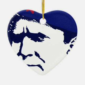 Tito josip Broz Portrait illustration Ceramic Ornament