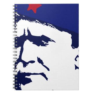Tito josip Broz Portrait illustration Spiral Notebook